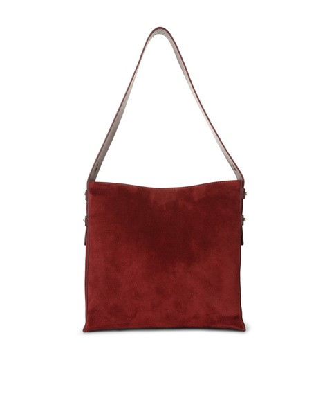 Orciani CASHMERE LEATHER BUCKET BAG