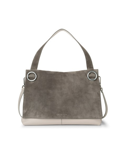 Orciani CASHMERE LEATHER AND SUEDE SHOULDER BAG