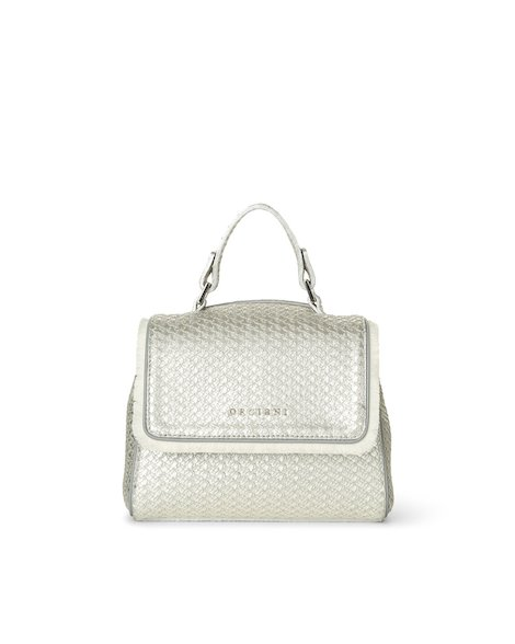 Orciani WAVE LEATHER MINI SVEVA BAG WITH STRAP