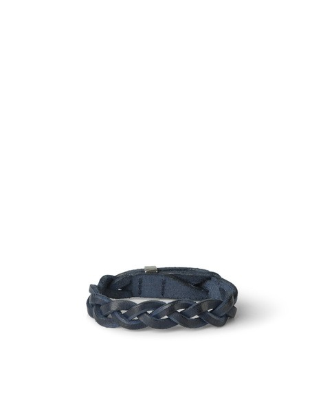 Orciani WALK WOVEN LEATHER BRACELET