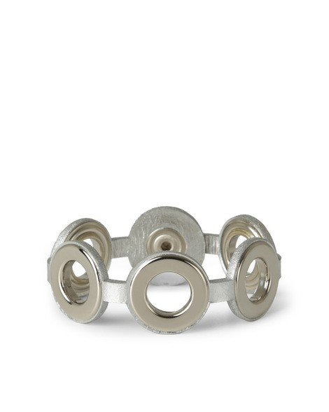 Orciani METALLIC BRACELET WITH RINGS