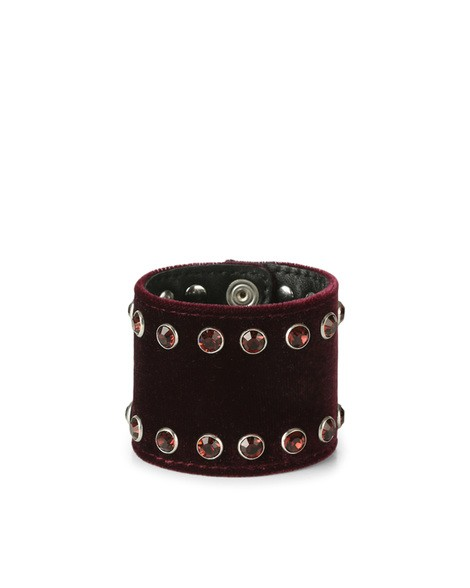 Orciani VELVET  LEATHER AND VELVET TALL BRACELET