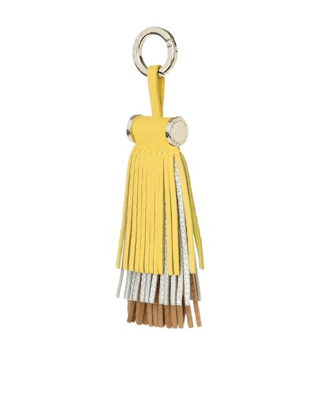 Orciani SILVER SOFT LEATHER BAG CHARM