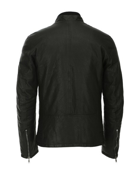 Orciani OLDED LEATHER QUILTED JACKET