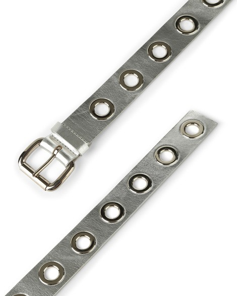 Orciani METALLIC LEATHER BELT WITH RINGS