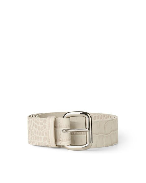Orciani COCCO LONG TIP CROCODILE EMBOSSED LEATHER BELT