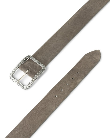Orciani SENSORY HIGH WAIST SUEDE JEWEL BELT