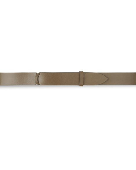 Orciani BULL LEATHER NOBUCKLE BELT CUT EDGE H.30, FABRIC BACK SIDE