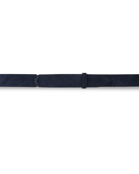 Orciani SUEDE NOBUCKLE BELT, CUT EDGE, H.30, FABRIC BACK-SIDE