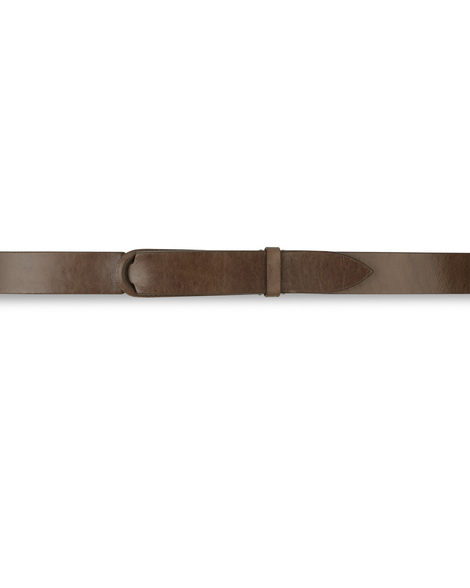 Orciani HORSE NOBUCKLE BELT, CUT EDGE, H.30, HORSE LEATHER BACK SI