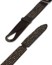 Orciani BULL LEATHER NOBUCKLE BELT CUT EDGE H.40 CALF LEATHER BACK