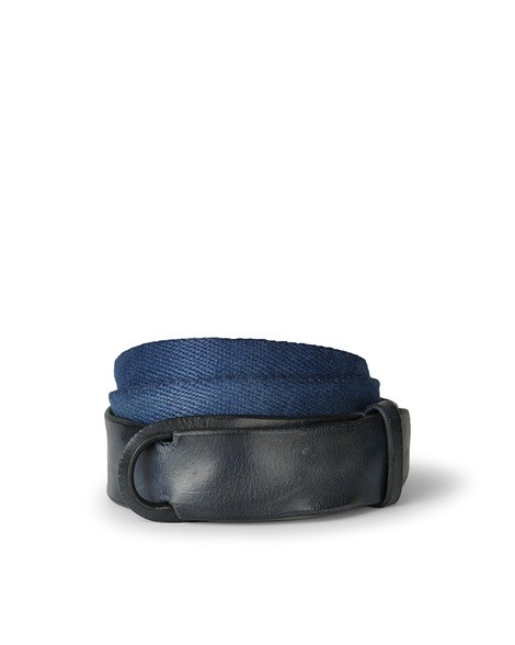Orciani DIVE LEATHER AND FABRIC BELT