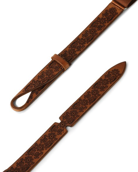 Orciani DIVE LEATHER AND FABRIC NOBUCKLE BELT