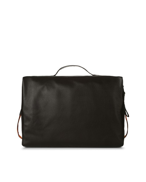 Orciani PORTLAND LINE LEATHER AND FABRIC DUFFLE BAG