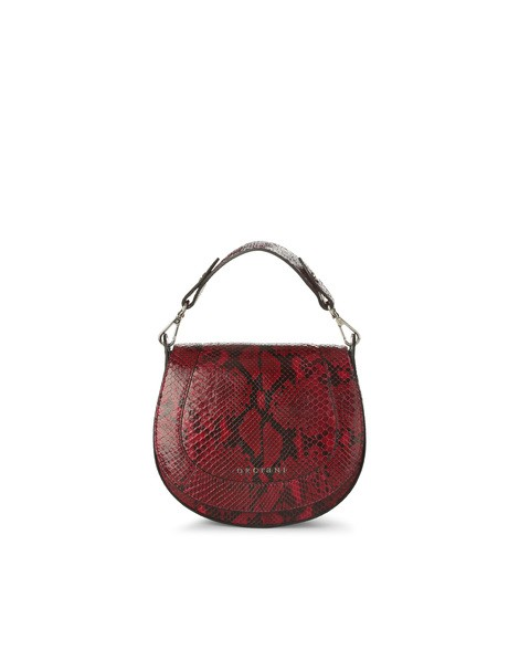 Orciani DIAMOND PYTHON LEATHER MINI BAG