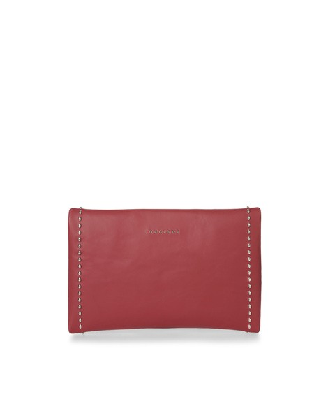 Orciani CHIFFON LEATHER ENVELOPE BAG