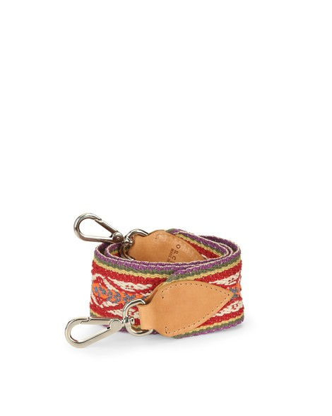 Orciani ETHNIC SOUL LEATHER AND FABRIC SHOULDER STRAP