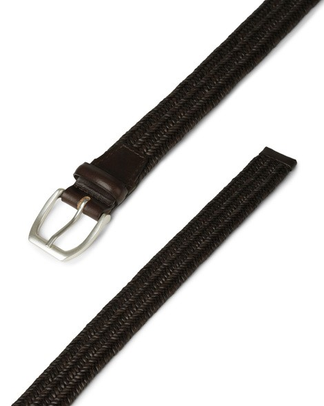 Orciani WIDE STRETCH LEATHER BELT