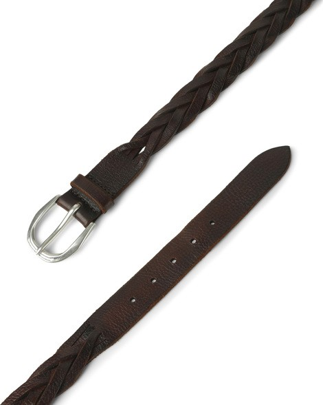Orciani STAIN WOVEN LEATHER BELT