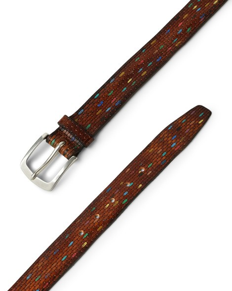Orciani BRICK COLOR LEATHER BELT