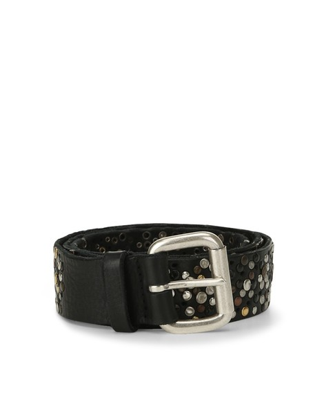 Orciani HUNTING UP MICRO STUDDED LEATHER BELT