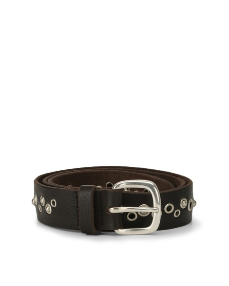 Orciani HUNTING UP STUDDED LEATHER BELT