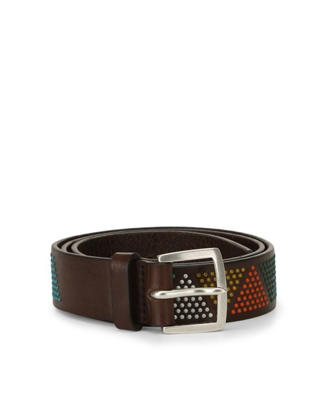 Orciani SIOUX MICRO STUDDED LEATHER BELT