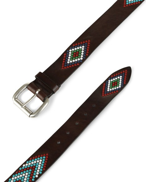 Orciani CHEROKEE MICRO STUDDED LEATHER BELT