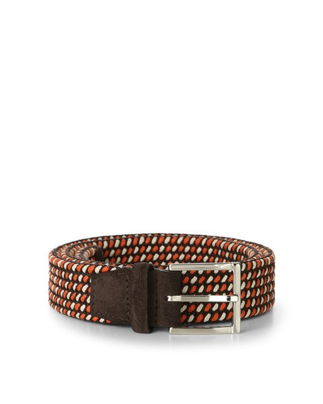 Orciani GRAD FABRIC AND LEATHER BELT