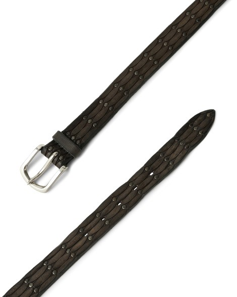 Orciani STAIN MICRO-STUDS LEATHER BELT