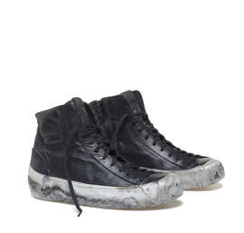 Low ankle boots with a marble effect sole