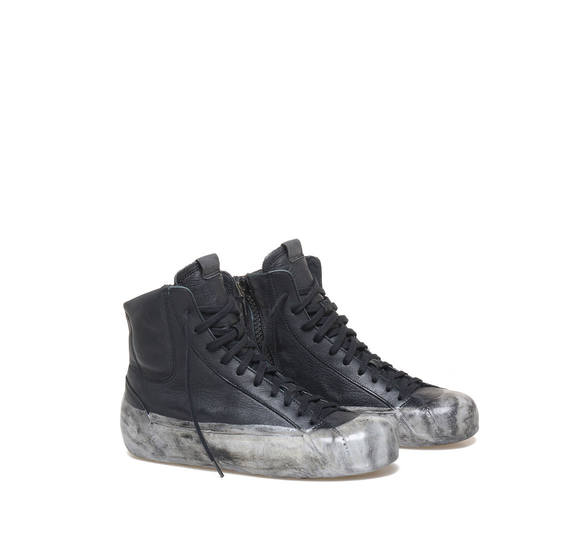 Women's low ankle boots with a marble effect sole