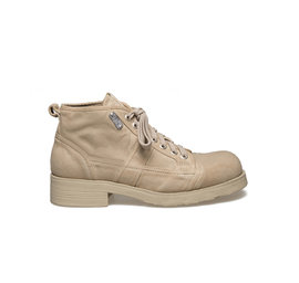 Frank<br />Sand-coloured canvas boot for man with rubber sole