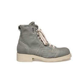 John<br />Military green canvas ankle boot