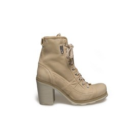 John<br />Sand-coloured canvas ankle boot