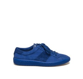 Woobie<br />Blue nubuck leather bi-material sneaker
