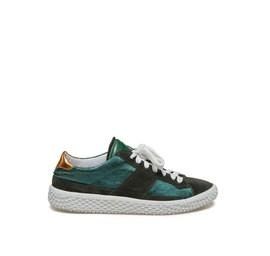 Woobie<br />Green bi-material sneaker