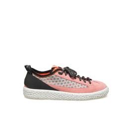 Woobie climb<br />Shoe in pink split calfskin
