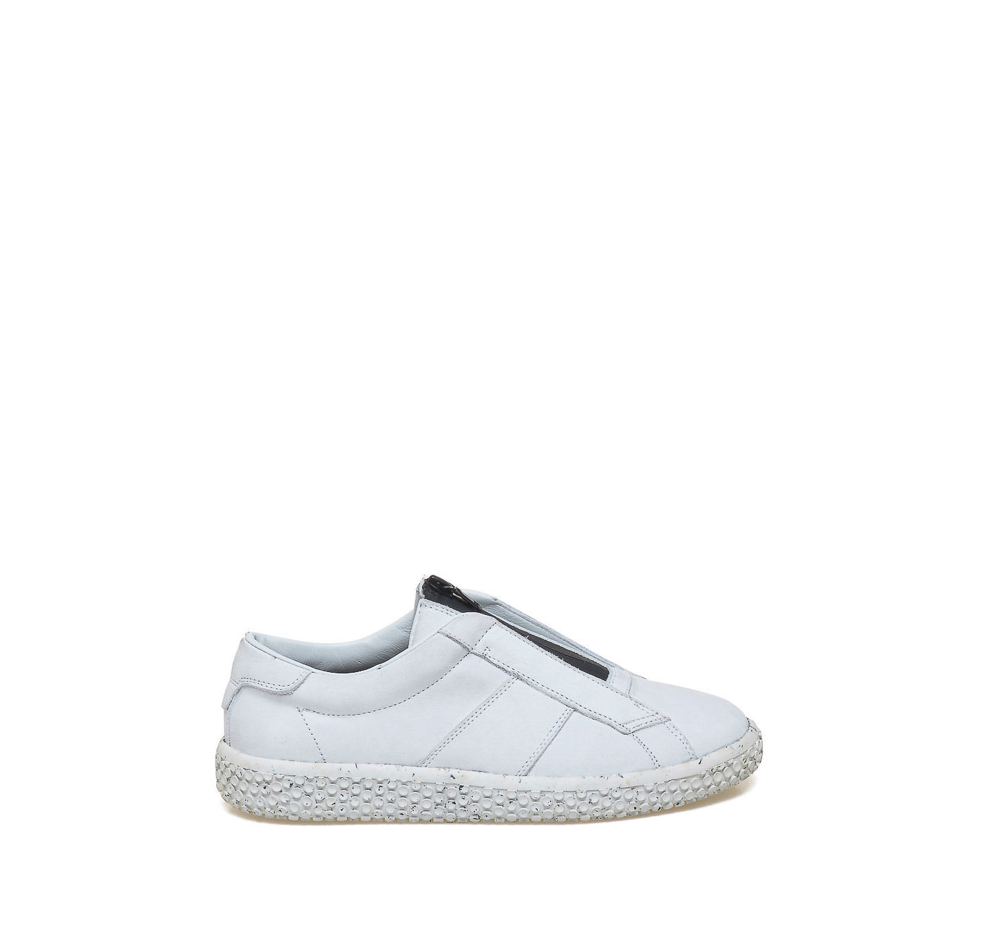 Woobiebr White Sneakers With Central Contrast Zip OXS Online - Formal invoice format best online sneaker store
