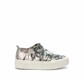 Humvee shoe in floral fabric with Velcro and a white sole