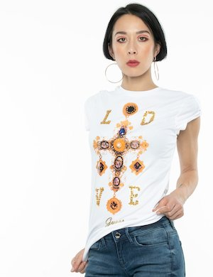 T-shirt Guess stampa love