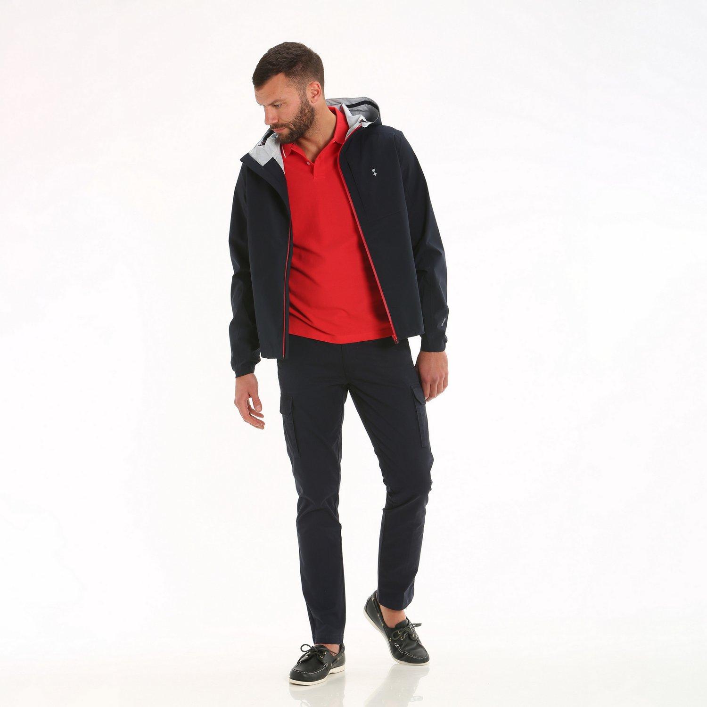 E01 waterproof men's hooded jacket - Navy