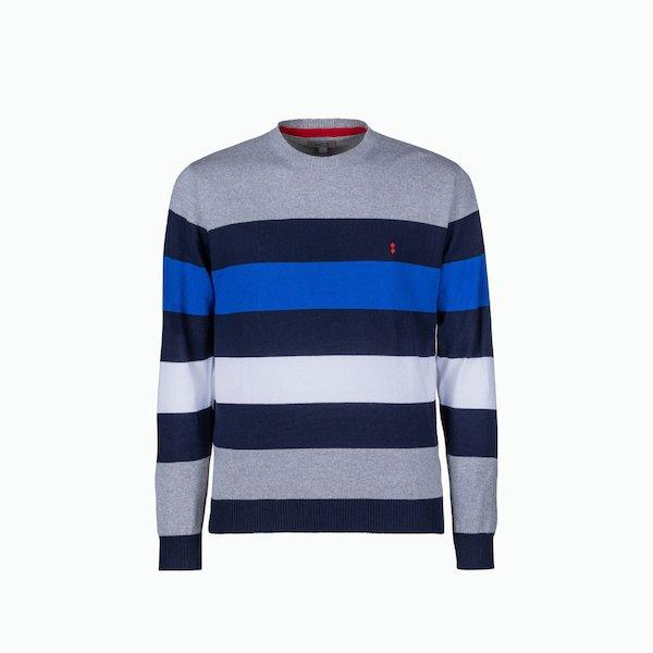 Men's sweater C208 with four-line motif