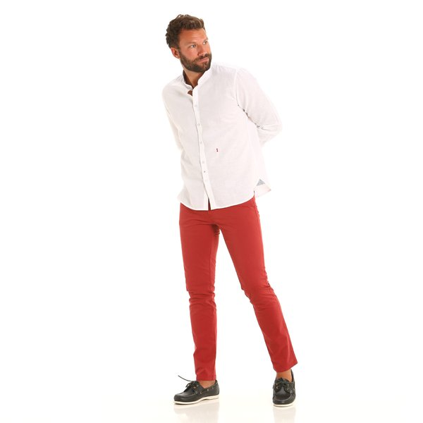 Bridge men's five-pocket trousers in stretch twill