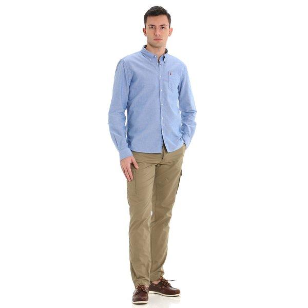 C254 men's slim-fit cotton trousers