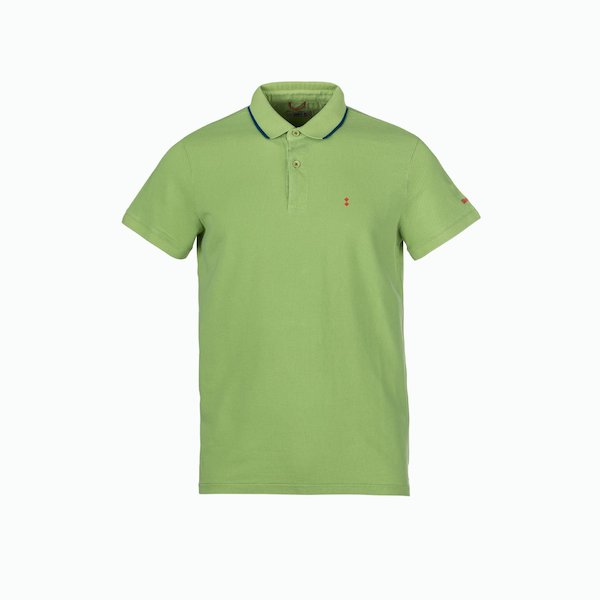 Men's Polo C251 with navy edging on the collar