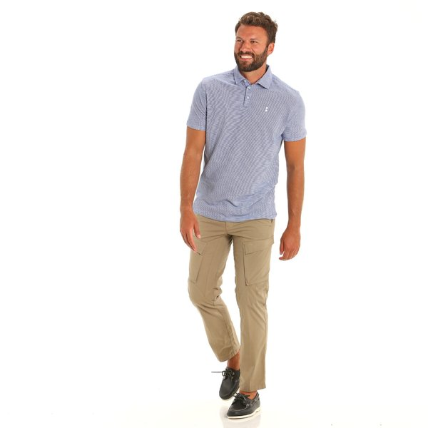 E89 men's short-sleeved polo shirt with logo on the chest and sleeve