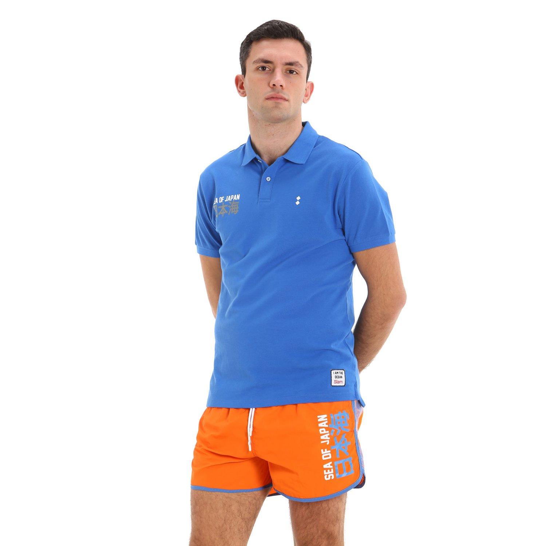 E173 men's light nylon swim trunks - Flame Orange