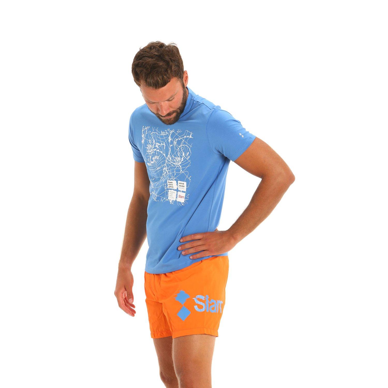 E166 men's nylon swim trunks - Flame Orange