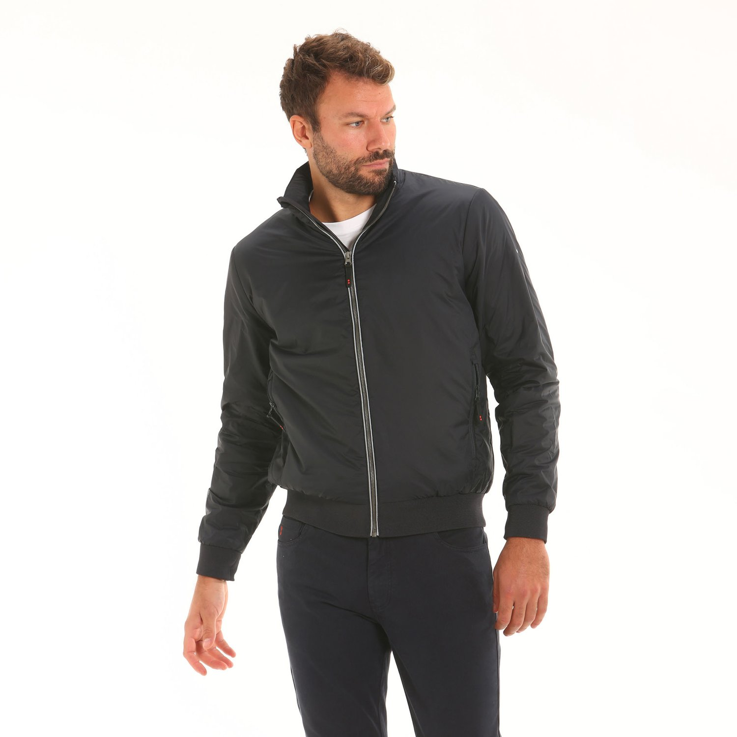 Revolution E04 men's jacket with high thermal properties - Navy
